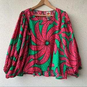 NWT Farm Rio cheery blouse
